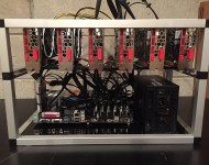 GPU Mining Rig Open Air Frame Case with 6 USB Risers Review 3