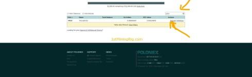 poloniex pascalcoin wallet key