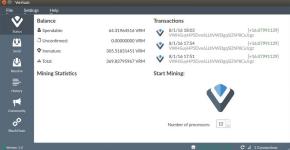 mining verium transactions