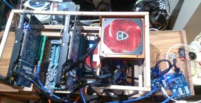 PCIe 1 to 3 PCI express 1X mining rig 1