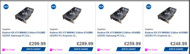 AMD Sapphire Mining RX 470 GPUs Confirmed – Crypto Mining