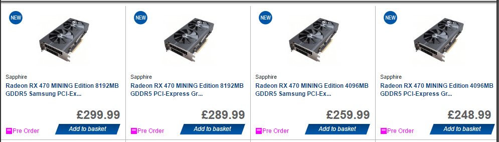 AMD Sapphire Mining RX 470 GPUs Confirmed - Crypto Mining