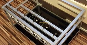Aluminum Open Air Mining Rig Frame Case 2