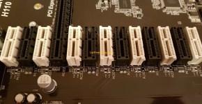 AsRock H110 Pro BTC+ 13 GPU Mining Motherboard PCI-e slots