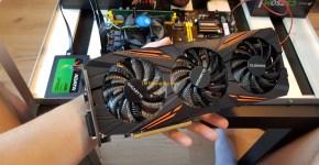 Gigabyte GTX 1070 8GB & USB Riser Mining Rig 1