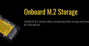 Gigabyte H110-D3A Onboard M.2 Storage