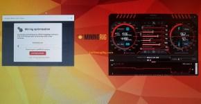 Gigabyte GeForce GTX 1070 8GB Mining Rig Nicehash Benchmark 2
