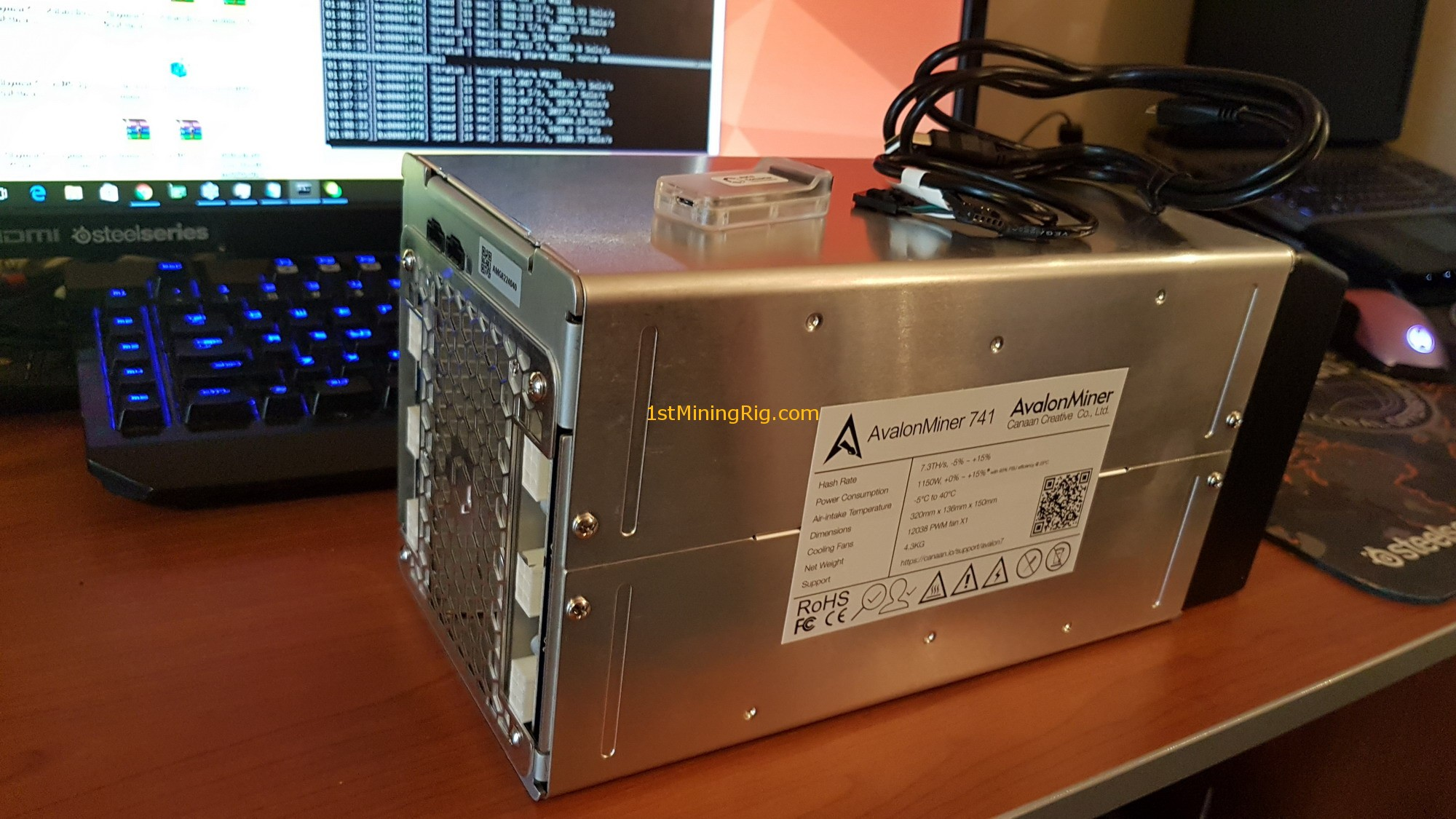 avalonminer 741 cryptocurrency mining system