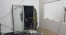 7 1stMiningRig hosting room door cement