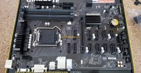 Gigabyte B250-FinTech 12 GPU Mining Motherboard Top