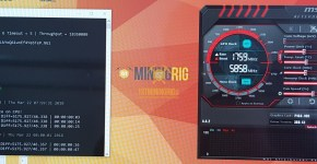 Gigabyte P104-100 4GB Nexus SHA3 Mining Hashrate Overclock
