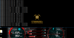 MSI GTX 1060 T-Rex 0.5.1 Lyra2z Algorithm Mining Hashrate