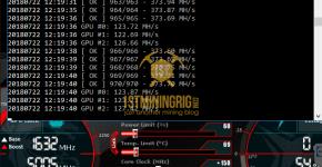 MSI GTX 1080 Ti T-Rex 0.5.1 Tribus Algorithm Mining Hashrate