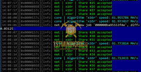 NiceHash X16r Algorithm GTX 1080 Ti Mining Hashrate Terminal