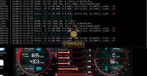 MSI GTX 1060 3GB z-Enemy Renesis RESS Mining Hashrate