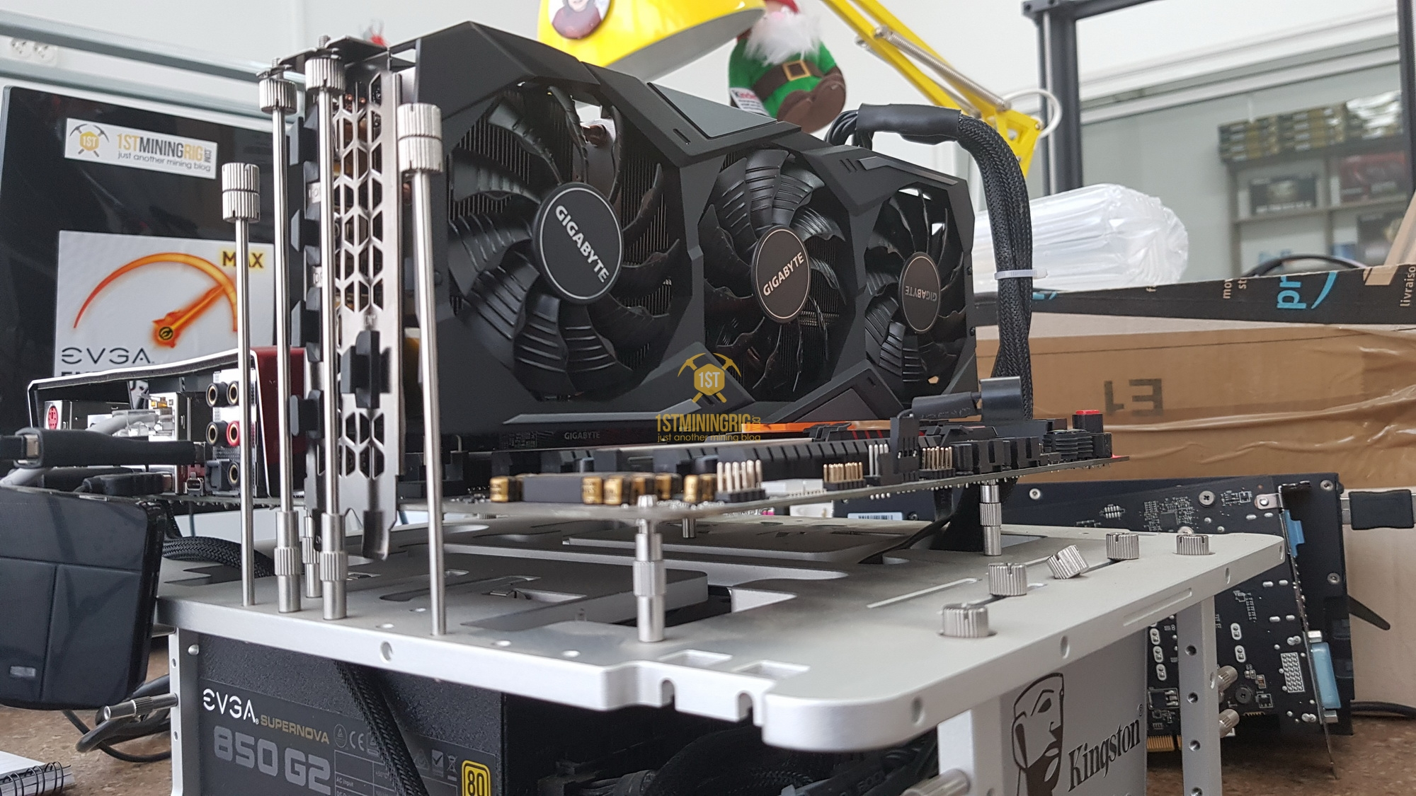 Gigabyte RTX 2080 Ti Mining Performance Review - 1st Mining Rig