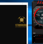 GTX 1080 ProgPow Mining Hashrate TDP 60% with Overclock