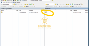 WinSCP BlackMiner F1+ Up Folder 1