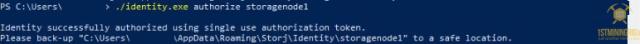 3 additional storj node authorize identity