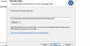 storj gui install identity location