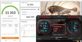 gigabyte rtx 3080 vision 3dmark benchmark stock