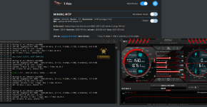 gigabyte rtx 3080 zcoin mtp mining hashrate overclock and power limit 70