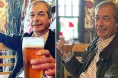 Police asked to investigate whether Nigel Farage broke quarantine rules with pub trip