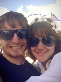 My boyfriend and me at Spring Weekend