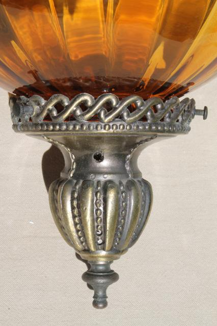 Vintage Swag Lamp Hanging Light Pendant Lantern W Hand