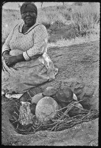 Kumeyaay Potter Firing Pots