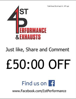 1st performance £50 voucher
