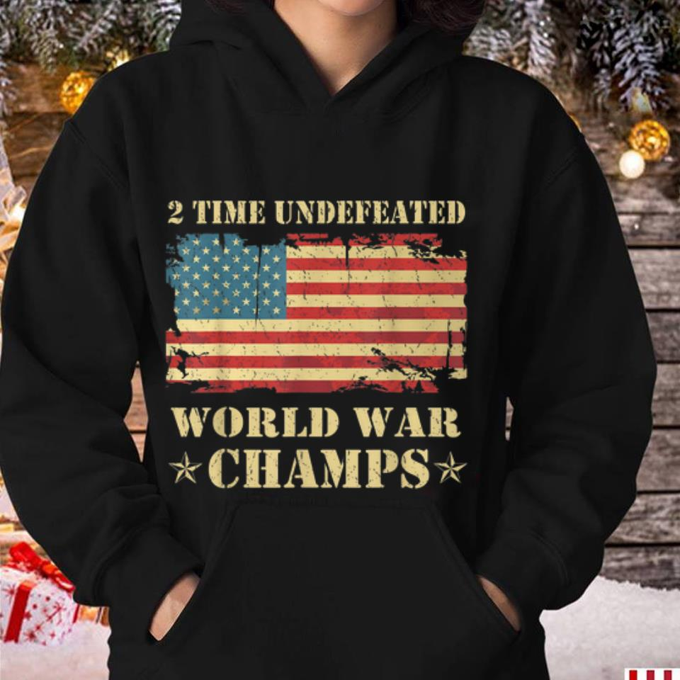 2 Time Undefeated World War Champs Ameican Flag 3