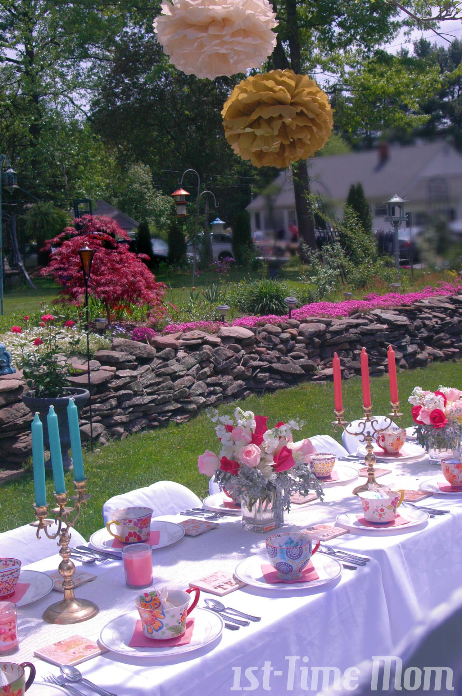 A Garden Tea Party Bridal Shower 1st Time Mom