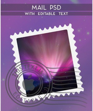 Mail_PSD_With_Editable_Text