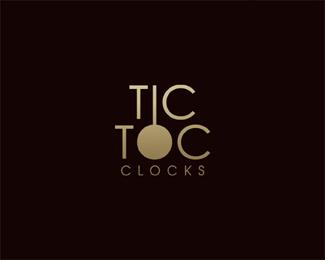 tic-toc typographic logo inspiration