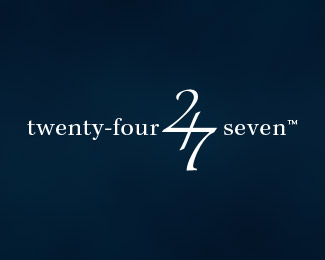 twenty-four-seven typographic logo inspiration