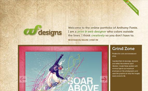 Anthony-fonte-portfolio-looking-textured-websites