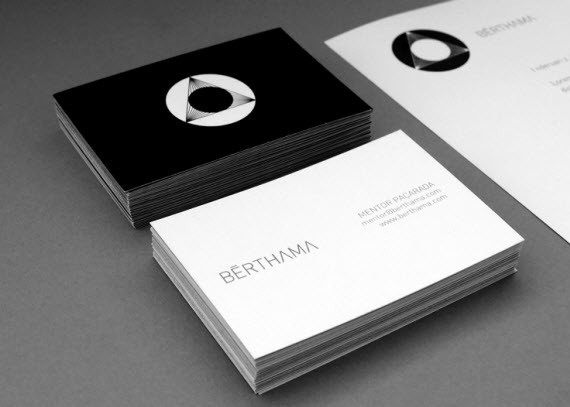 creative minimal business card design inspiration BËRTHAMA-minimal-business-cards