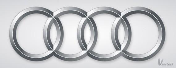 Create the Audi logo