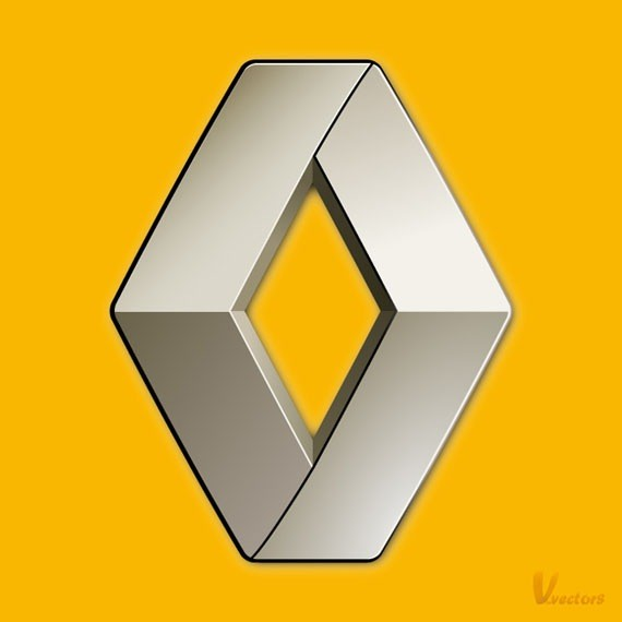 Create the Renault logo