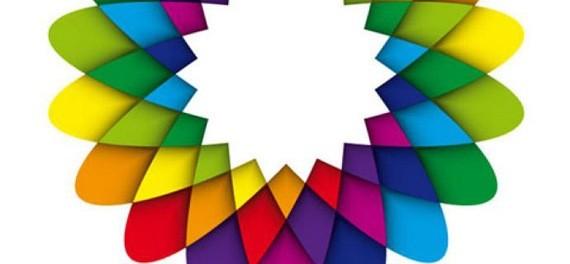 Geometric Flower Effect Logo
