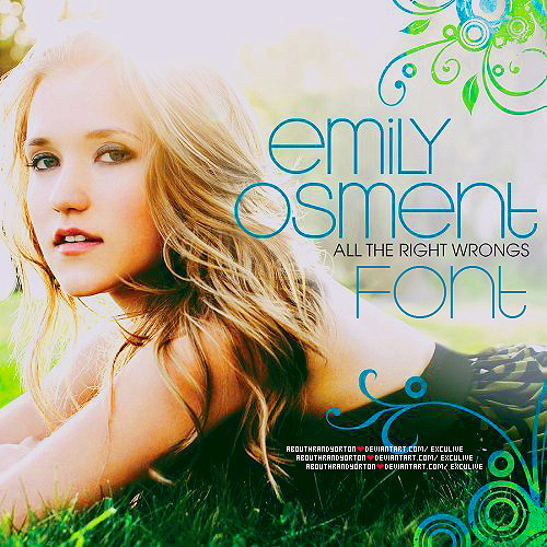 Emily-osment-free-fonts-minimal-web-design