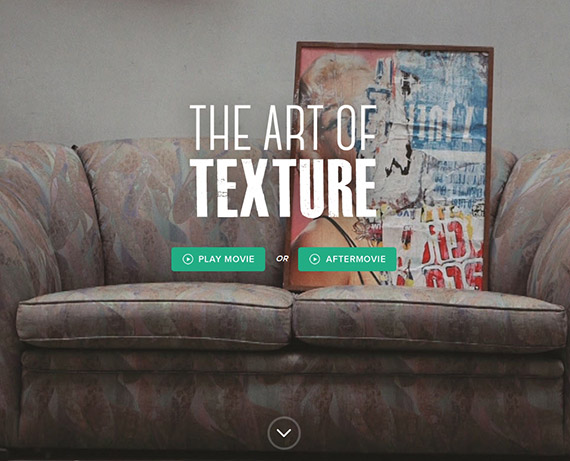 the-art-of-texture-single-page-website