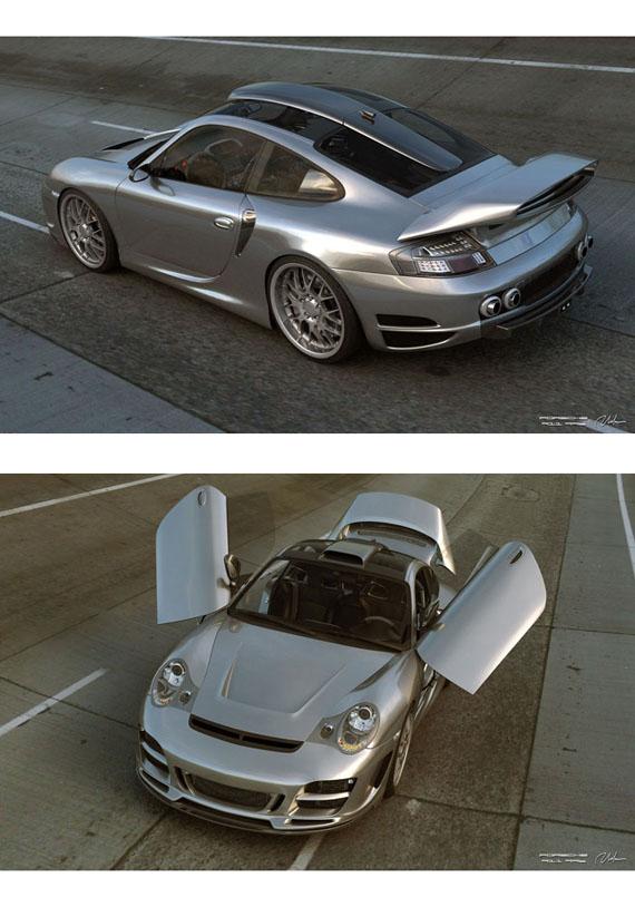 Porsche 911 996 Top Art Chrome Look