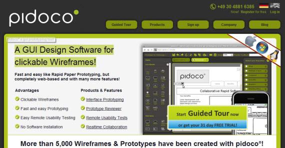 Pidoco-free-premium-wireframing-webdesign-tools