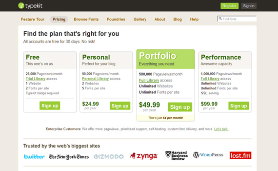 Typekit-pricing-charts-best-examples-tips-inspiration