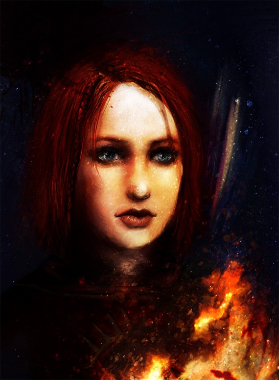 Leliana Fire by firefly-wp