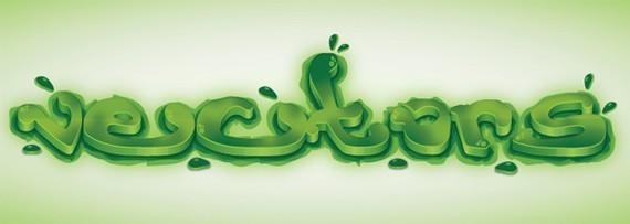 Create a Green Viscous Text Effect