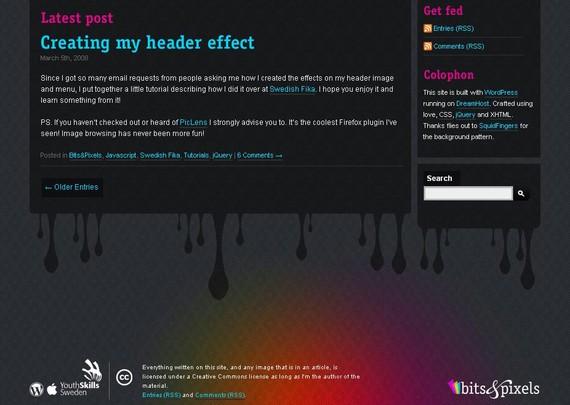 footer design inspiration Bits & Pixels
