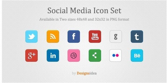 Social Media Icon Set by Designsidea